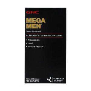 GNC Mega Men Multivitamin With Multivitamin blends for Antioxidants Heart and Immune Support Timed Release 180 Caplets