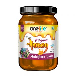 Onelife Organic Honey Multiflora Dark 650gm