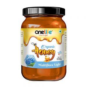 Onelife Organic Honey Multiflora Light 250gm