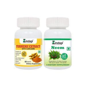 Zindgi Neem and Turmeric capsules