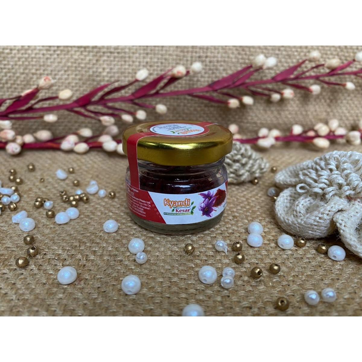Natural Saffron Kesar Fresh  Healthy2 gm Honey