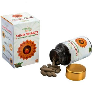 Nature Sure Mind Shakti Tablets for Memory and Concentration in Men and Women 1 Pack 60 Tablets3