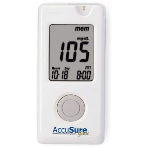 AccuSure Gold Glucometer with 25 strip