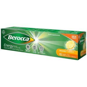 Bayer Berocca Performance 15 Effervescent Tablets Orange Flavour