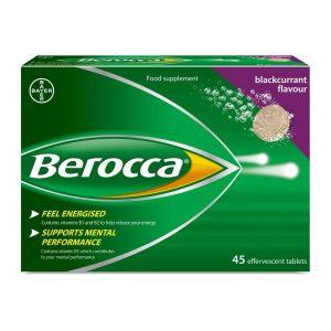 Berocca Blackcurrant Flavour 45 Sugar Free Effervescent Tabs