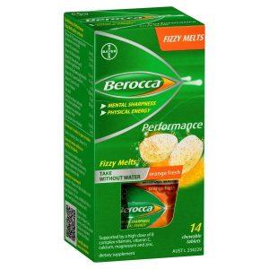 Berocca Multivitamins Orange Flavor 45 Effervescent Tablets Sugar Free