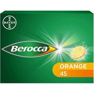 Berocca Multivitamins Orange Flavor 45 Sugar Free Effervescent Tabs
