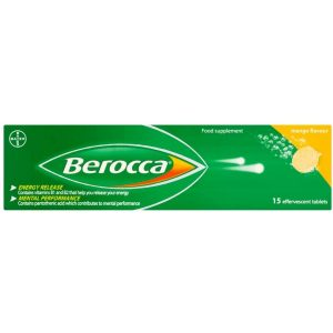 Berocca Vitamin C Effervescent Tablets With Magnesium Vitamin B12 And Vitamin B Complex Mango Flavour 1 Pack Of 15 Tablets