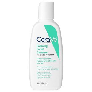 CeraVe Facial Cleanser Foaming Facial Cleanser 3 Ounce