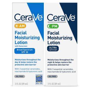 CeraVe Facial Moisturizing Lotion 3oz. AM PM Bundle