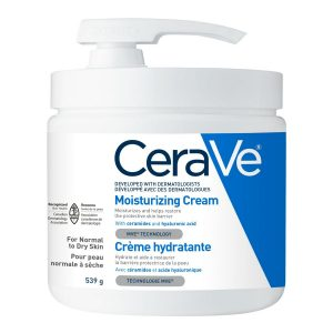 CeraVe Moisturizing Cream Daily Face And Body Moisturizer For Dry Skin With Pump 19 Ounce