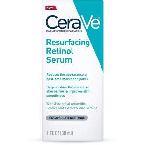 CeraVe Retinol Serum For Post Acne Marks And Skin Texture l Pore Refining Resurfacing Brightening Facial Serum With Retinol l 1 Ounce