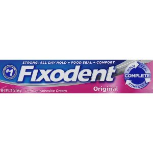 Fixodent Complete Original Denture Adhesive Cream 2.4 Oz
