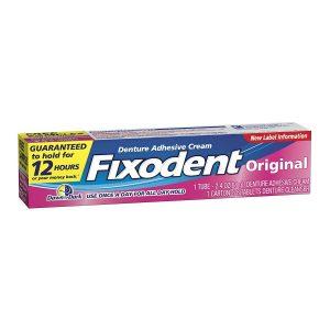 Fixodent Denture Adhesive Cream 2.4 Oz