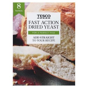 Tesco Fast Action Dried Yeast For Perfect Rise 8 Sachets 56g