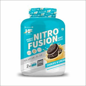 HF Series Nitro Fusion Whey Isolate Protein Cookies and cream